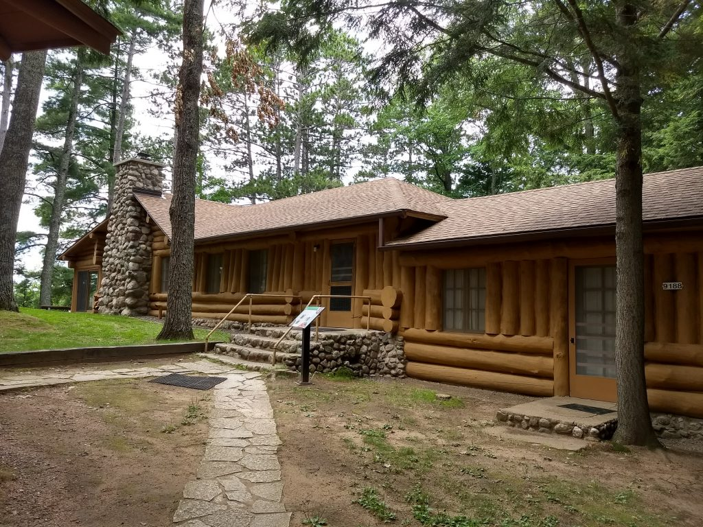 log cabin building
